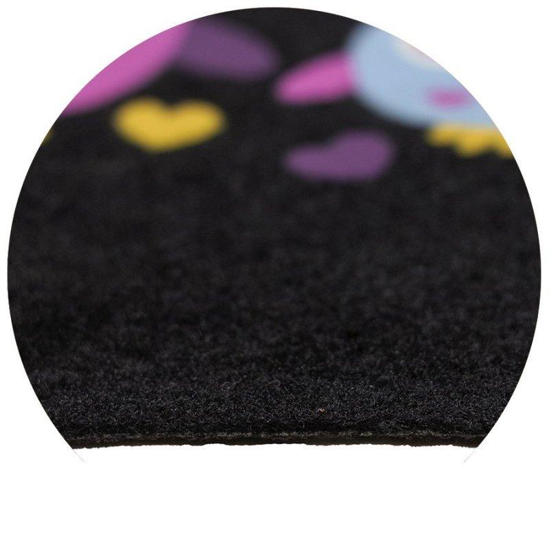 Wycieraczka igłowana Paris 5 sowy 40x60 cm czarna 866-000 ean 5902211618669