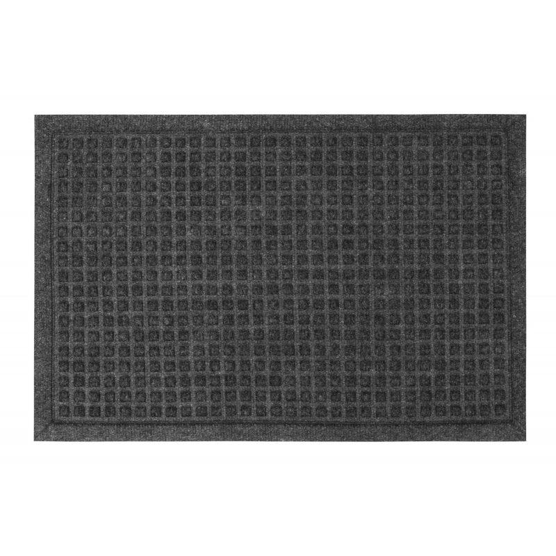 Wycieraczka tekstylna Athens szara 40x60 cm w kwadraty podgumowana 131-001 ean 5902211131014