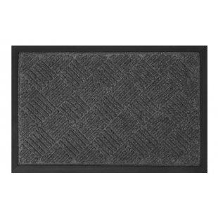 Wycieraczka tekstylna Parma szara 40x60 cm podgumowana wzory kreski 152-000 ean 5902211152002 kolor srebrny szary