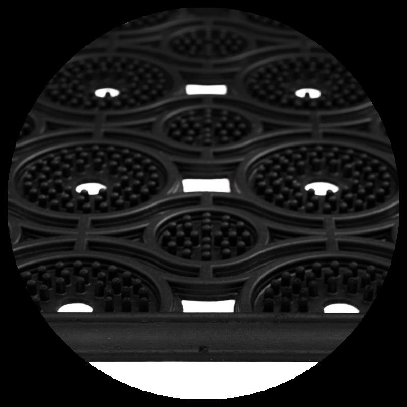 Wycieraczka do butów gumowa w oczy Eye mat2 45x75 cm czarna  850-002 ean 5902211850205