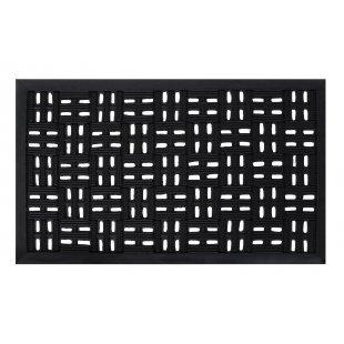 Wycieraczka gumowa do butów czarna w kwadraty wypukłe Eye mat 3 45x75 cm
