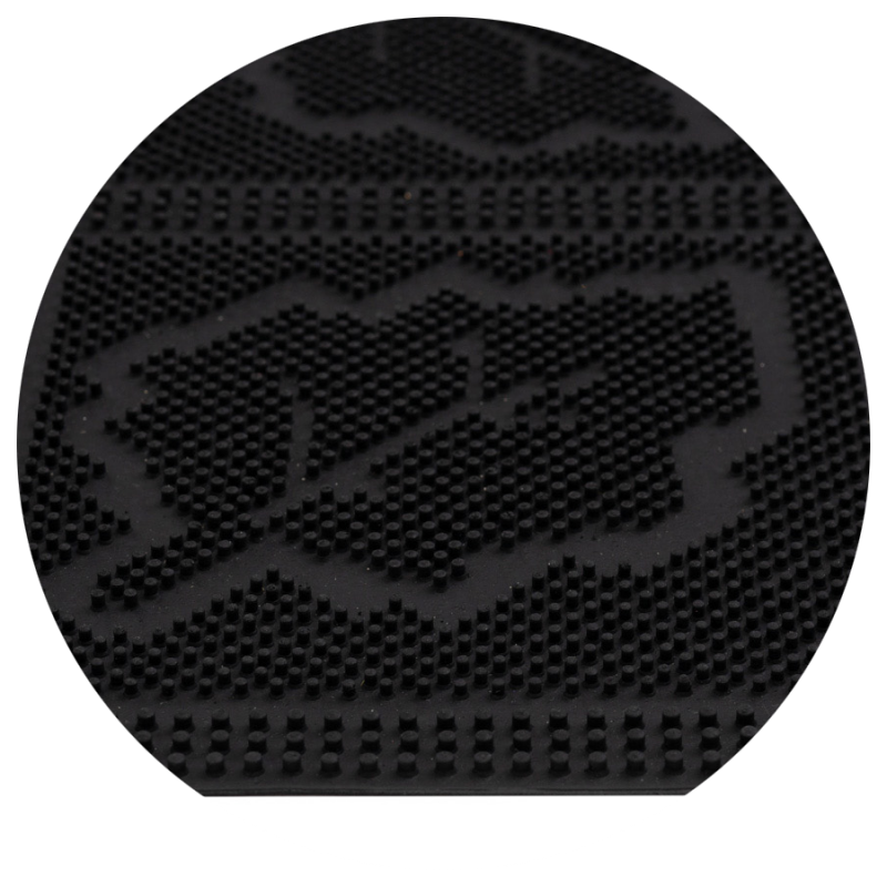 Wycieraczka do butów czarna gumowa w liście mix mat liście 40x60 cm