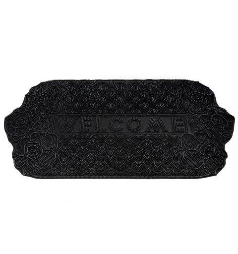 Wycieraczka gumowa napis welcome Casablanca  45x75 cm  121-100 ean 5902211611202 kolor czarny