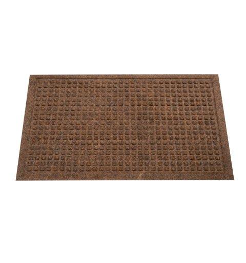 Wycieraczka tekstylna Athens brązowa 40x60 cm w kwadraty podgumowana 131-001 ean 5902211131014