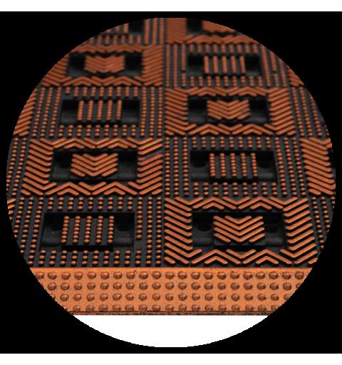 Wycieraczka do butów gumowa szachownica Vigo 45x75 cm miedziana pomarańczowa ciemna 130-001 5902211130109