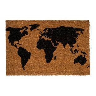 Wycieraczka Kokosowa Couleur Natural Mapa świata 40x60cm