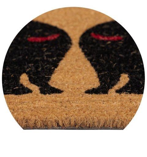 Wycieraczka kokosowa kotki Couleur Natural dwa koty 40x60 cm brązowa 895-004 ean 5902211895046