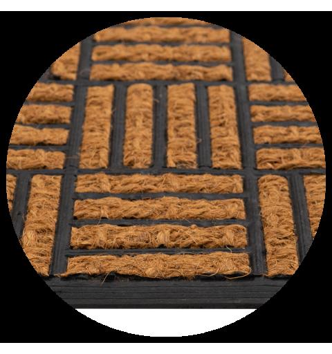 Wycieraczka kokosowa w kratki Tartan kratka 40x60 cm podgumowana  720-000 ean 5902211617204
