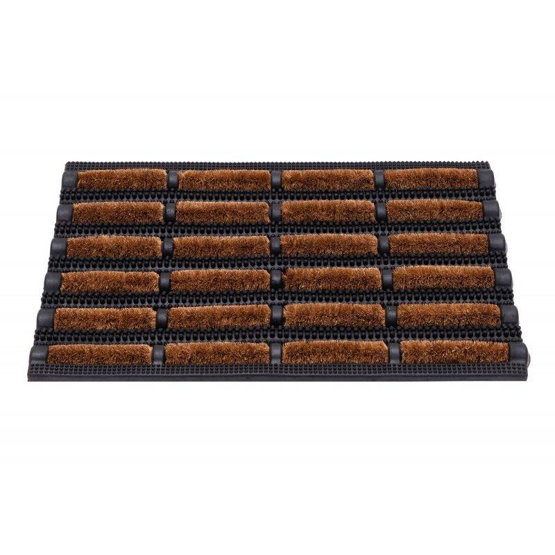 Wycieraczka do butów kokosowa wypukła Lagos 40x60 cm brązowa 132-000 5902211611325