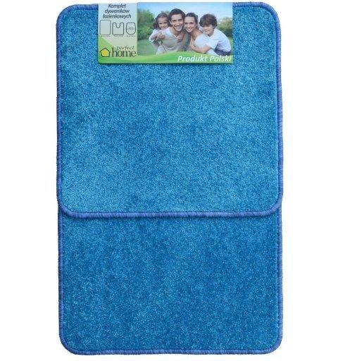 Komplet dywaników łazienkowych 2 częściowy prosty