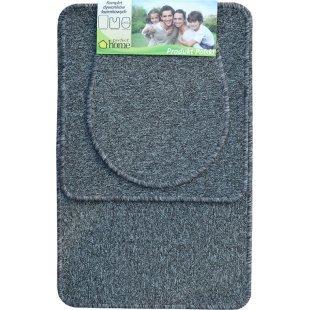 Komplet dywaników łazienkowych 3 częściowy prosty