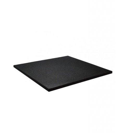 Mata do ćwiczenia gumowa Base Kwadrat 101x101 cm Crossfit siłownia kolor czarny