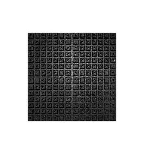 Płyta mata na plac zabaw gumowa Antishock 100x100 cm 40 mm kolor czarny