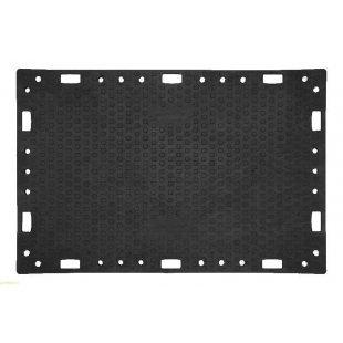 Road plate 120x180 cm h 2 cm black road mat for 45 tons