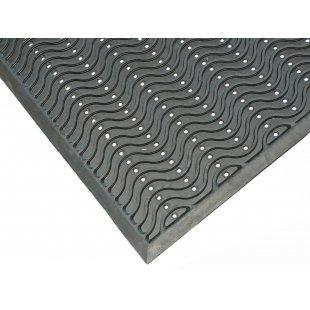 Black Rubber Doormat Wave