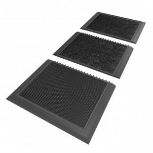 Sani Master 3 zone entrance disinfection mat Disinfecting foot bath with drying entrance mat