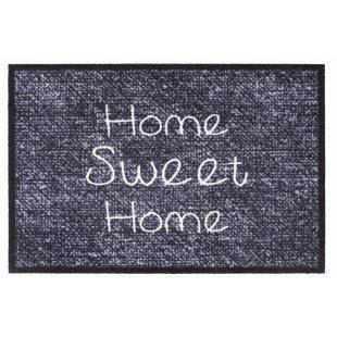 Mata wejściowa 50×75 cm Home sweet home szara ciemna