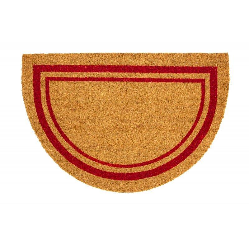 wycieraczka kokosowa wejściowa Couleur natural pólkole czerwone 45x75 cm
