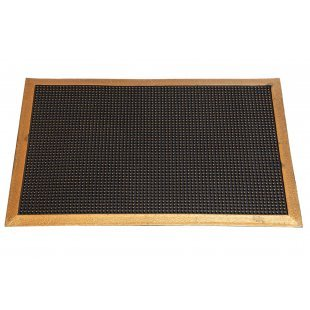 Spike rubber doormat with a frame Pinmat gold 40x60 60x90 cm
