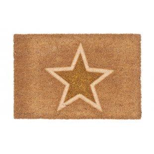 WYCIERACZKA KOKOSOWA  Couleur Glitter złota gwiazda 40x60 cm