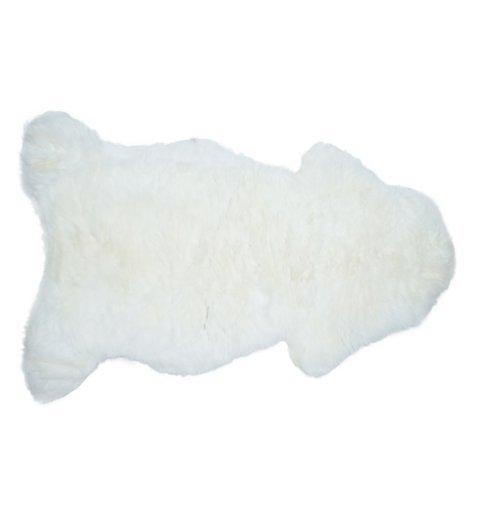 Naturalna skóra owcza 90x110 130x150 cm biały Podkład: skóra Grubość: 50-90 mm