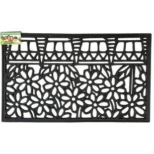 Decorative rubber doormat 40x60